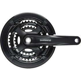 Shimano Tourney FC-TY701 Kurbelgarnitur Vierkant 6/7/8-fach 48-38-28 Zähne schwarz